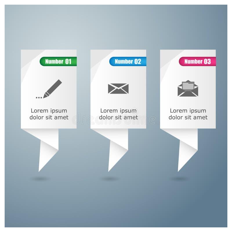 Πρότυπο σχεδίου Infographic στοκ εικόνα
