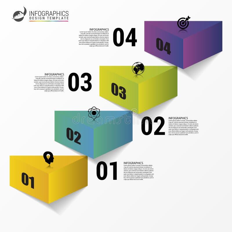 Πρότυπο σχεδίου Infographics Επιτυχία βημάτων επιχειρησιακών σκαλοπατιών διανυσματική απεικόνιση