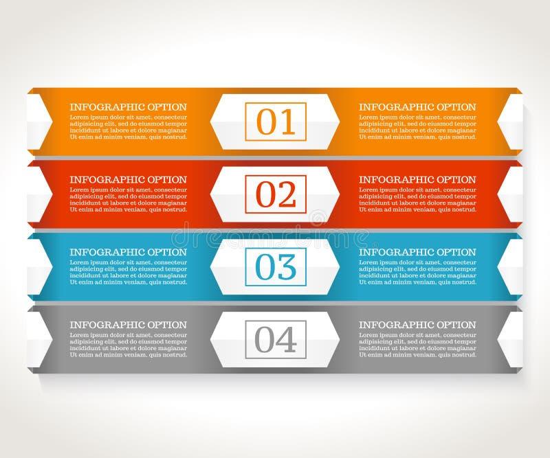 Πρότυπο σχεδίου Infographics Επιχειρησιακή έννοια με τέσσερις επιλογές διανυσματική απεικόνιση