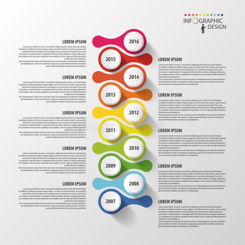 Πρότυπο σχεδίου Infographics υπόδειξης ως προς το χρόνο διάνυσμα διανυσματική απεικόνιση