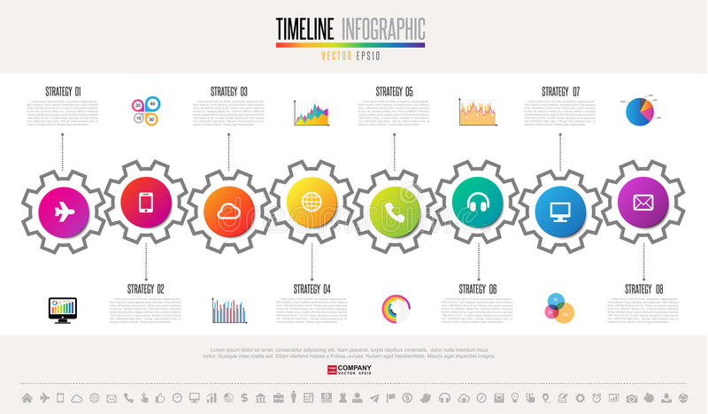 Πρότυπο σχεδίου Infographics υπόδειξης ως προς το χρόνο διανυσματική απεικόνιση