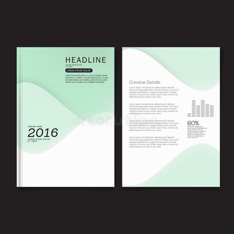 Πρότυπο σχεδιαγράμματος σχεδίου κάλυψης ιπτάμενων επιχειρησιακών φυλλάδιων A4 στο μέγεθος ελεύθερη απεικόνιση δικαιώματος