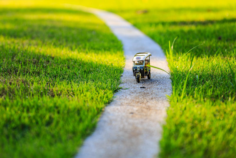 Πρότυπο ταξί Ταϊλάνδη Tuk Tuk στοκ φωτογραφίες με δικαίωμα ελεύθερης χρήσης