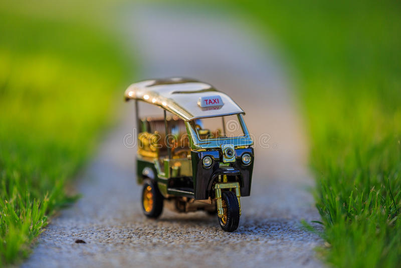 Πρότυπο ταξί Ταϊλάνδη Tuk Tuk στοκ εικόνα