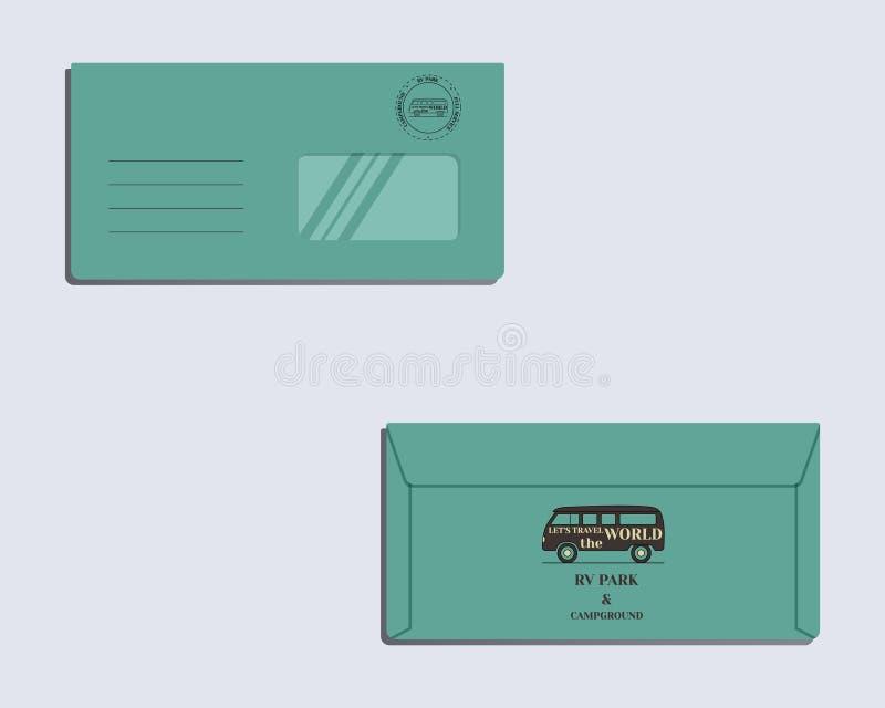 Πρότυπο ταυτότητας εμπορικών σημάτων φάκελος πίσω μέτωπο ελεύθερη απεικόνιση δικαιώματος
