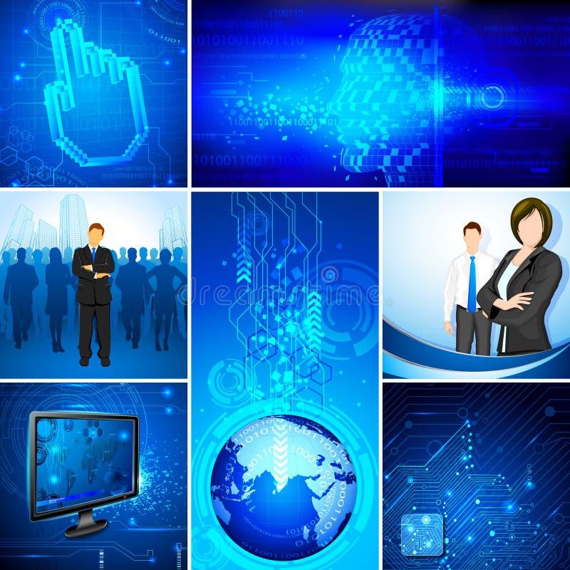 Πρότυπο τεχνολογίας διανυσματική απεικόνιση
