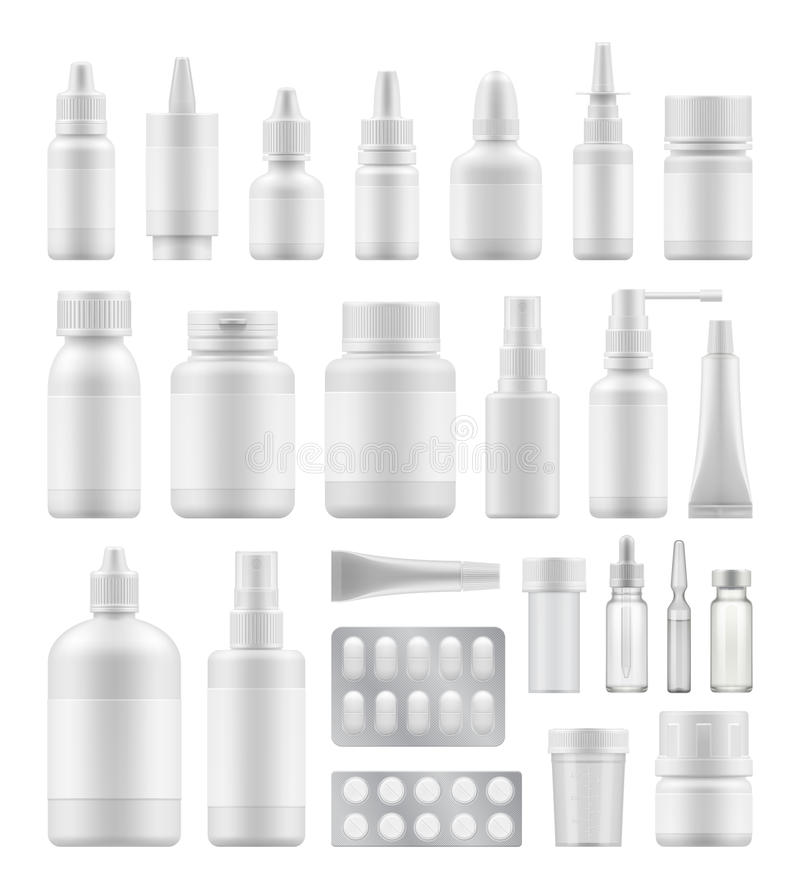 Πρότυπο της άσπρης πλαστικής συσκευασίας απεικόνιση αποθεμάτων