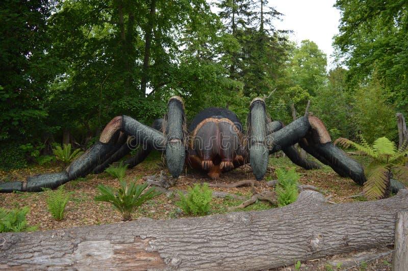 Πρότυπο της αράχνης φιαγμένο από ξύλο στοκ φωτογραφία