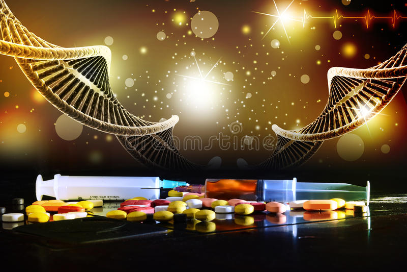 Πρότυπο της στριμμένης αλυσίδας DNA χρωμίου απεικόνιση αποθεμάτων