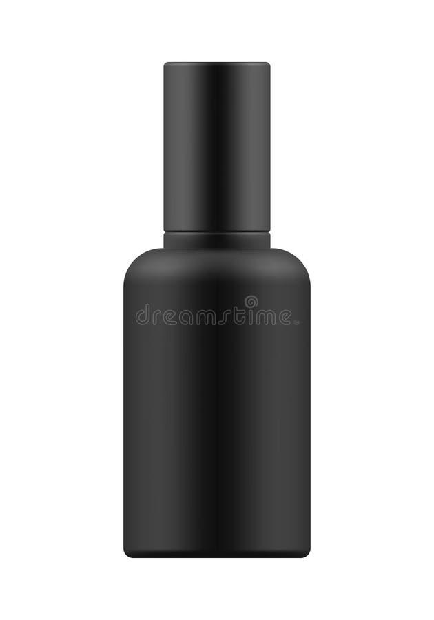 Πρότυπο του άσπρου πλαστικού μπουκαλιού ελεύθερη απεικόνιση δικαιώματος