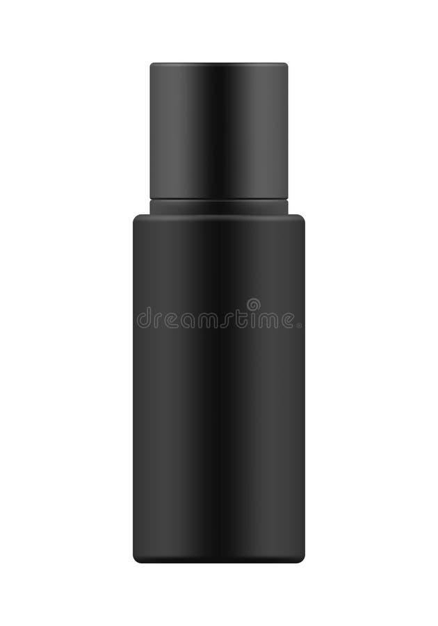 Πρότυπο του άσπρου πλαστικού μπουκαλιού διανυσματική απεικόνιση