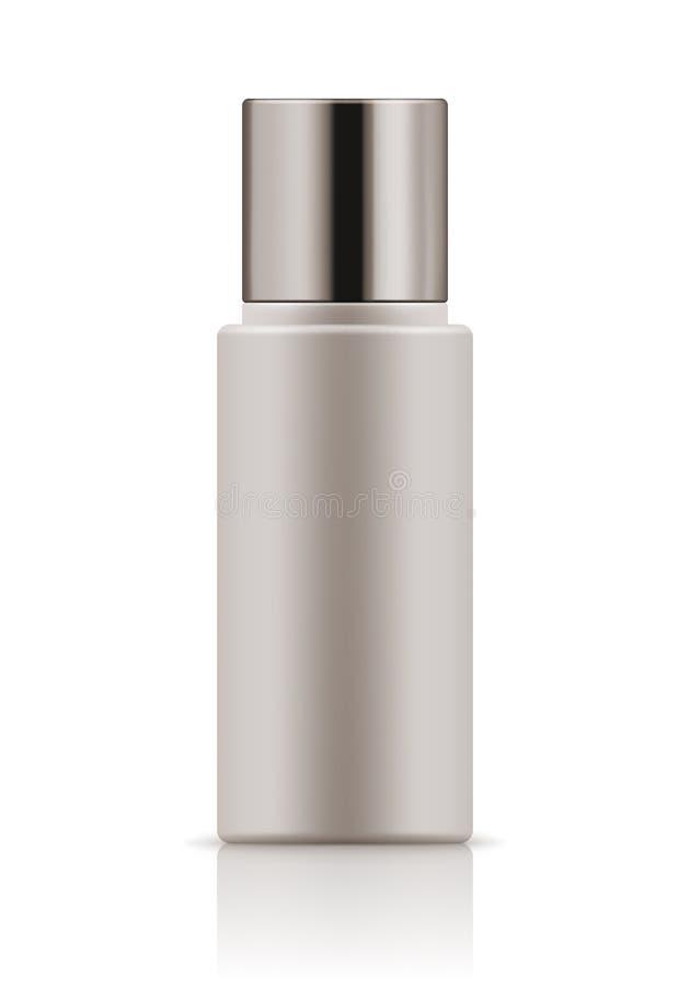 Πρότυπο του άσπρου πλαστικού μπουκαλιού απεικόνιση αποθεμάτων
