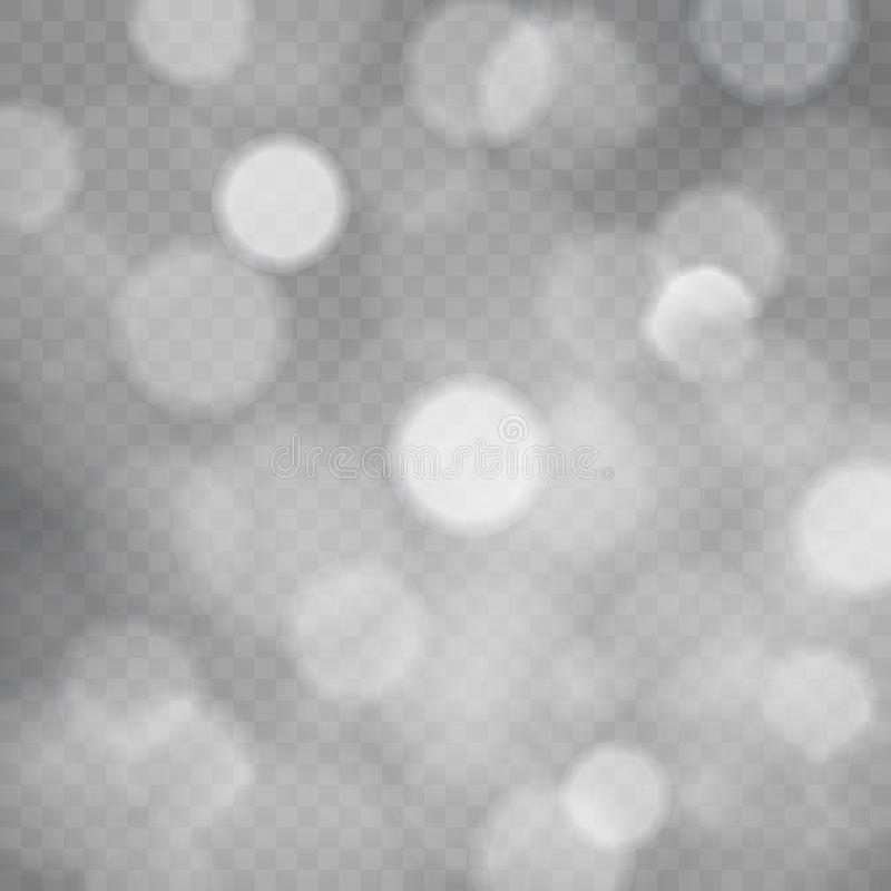 Πρότυπο του αφηρημένου διαφανούς τετραγωνικού υποβάθρου με τα σπινθηρίσματα και bokeh τα φω'τα, διαφανές γκρίζο διανυσματικό υπόβ διανυσματική απεικόνιση
