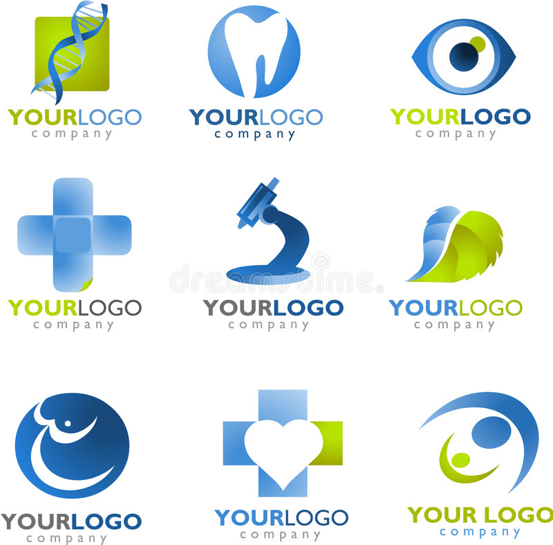 Πρότυπο του ιατρικού λογότυπου ελεύθερη απεικόνιση δικαιώματος