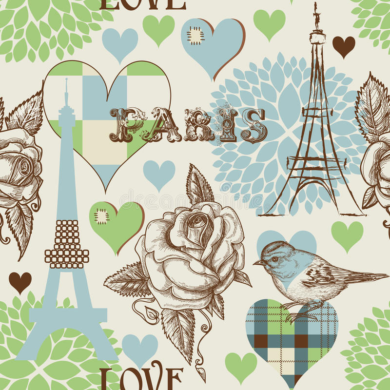 πρότυπο του Παρισιού άνευ ραφής ελεύθερη απεικόνιση δικαιώματος
