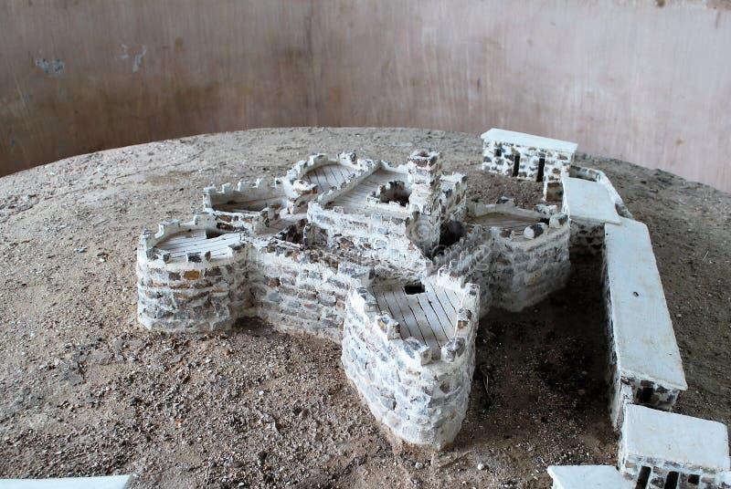 Πρότυπο του στρατόπεδου σκλάβων στο νησί του ST James στο Gambias στοκ εικόνα