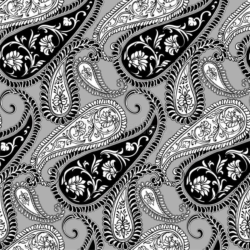 πρότυπο του Paisley άνευ ραφής απεικόνιση αποθεμάτων