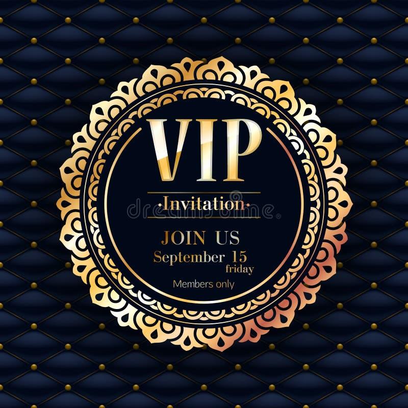 Πρότυπο υποβάθρου σχεδίου ασφαλίστρου VIP πρόσκλησης ελεύθερη απεικόνιση δικαιώματος