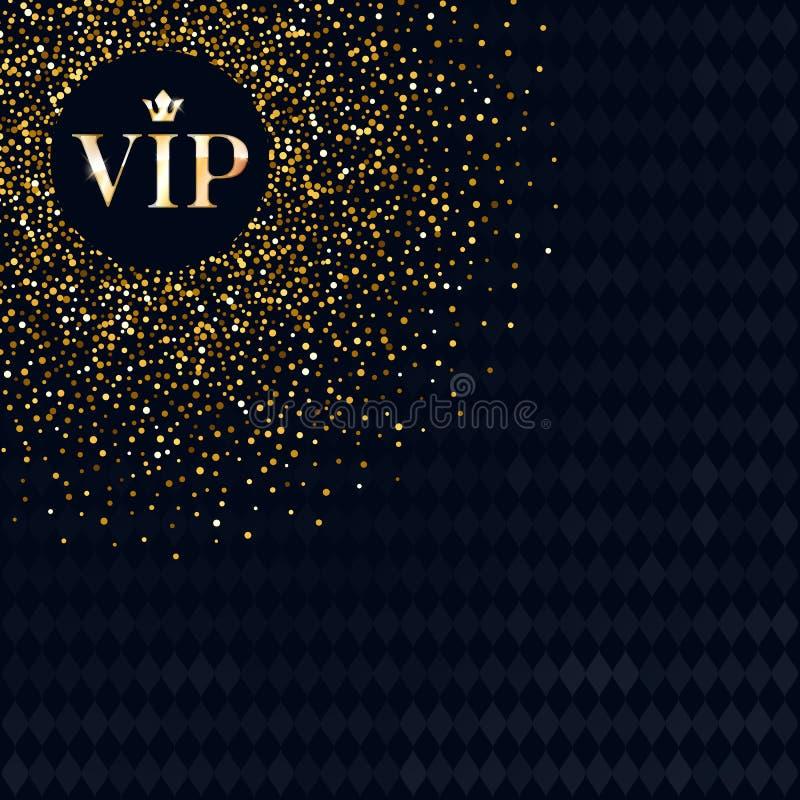 Πρότυπο υποβάθρου σχεδίου ασφαλίστρου VIP πρόσκλησης διανυσματική απεικόνιση