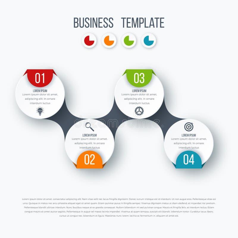 Πρότυπο υπόδειξης ως προς το χρόνο Infographics με τους κύκλους απεικόνιση αποθεμάτων