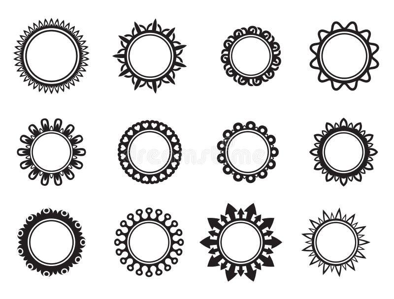 Πρότυπο υπό μορφή κύκλου διανυσματική απεικόνιση