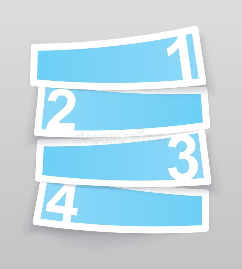 Πρότυπο φιαγμένο από τέσσερις ετικέτες ελεύθερη απεικόνιση δικαιώματος