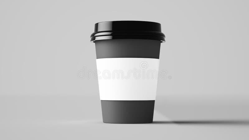 Πρότυπο φλυτζανιών καφέ ελεύθερη απεικόνιση δικαιώματος