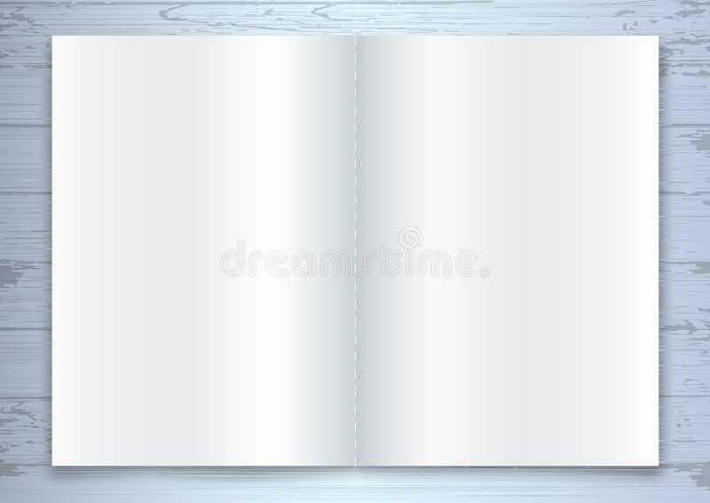 Πρότυπο φυλλάδιων, ανοιγμένο κενό κατάλογος ή πρότυπο περιοδικών διανυσματική απεικόνιση
