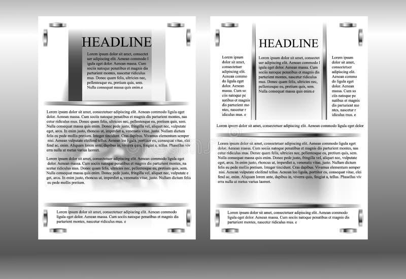 Πρότυπο φυλλάδιων με τα εργαλεία ελεύθερη απεικόνιση δικαιώματος