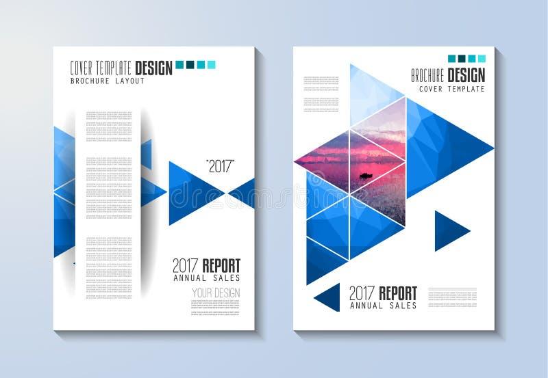 Πρότυπο φυλλάδιων, σχέδιο ιπτάμενων ή κάλυψη Depliant για την επιχείρηση διανυσματική απεικόνιση