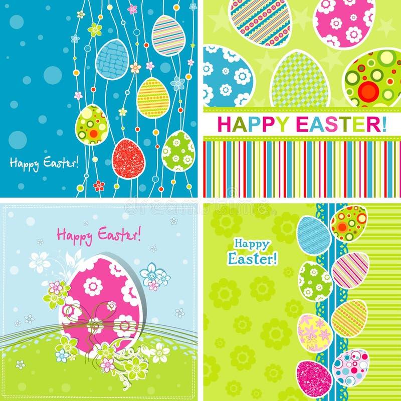 πρότυπο χαιρετισμού Πάσχας καρτών απεικόνιση αποθεμάτων