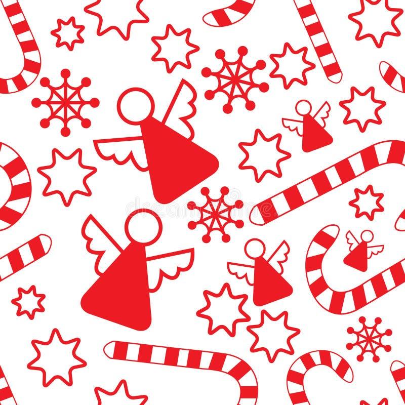πρότυπο Χριστουγέννων αγ&gam διανυσματική απεικόνιση