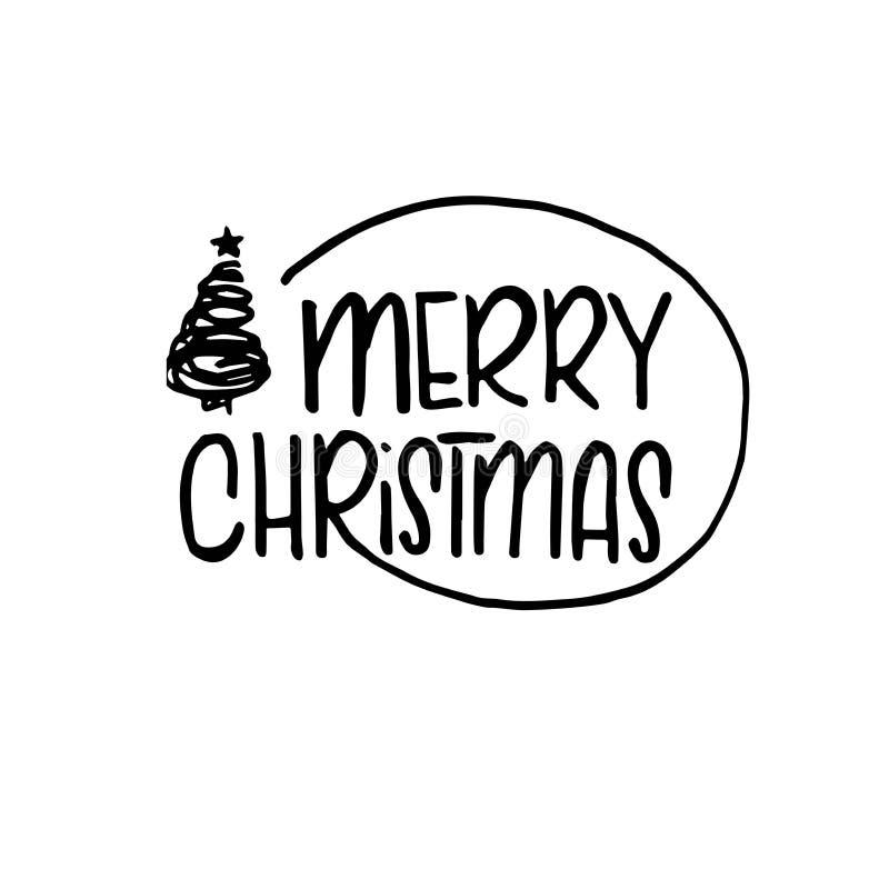 Πρότυπο Χριστουγέννων και του νέου έτους, με το δέντρο και το αστέρι για το χαιρετισμό, συγχαρητήρια, προσκλήσεις, ετικέττες, αυτ απεικόνιση αποθεμάτων