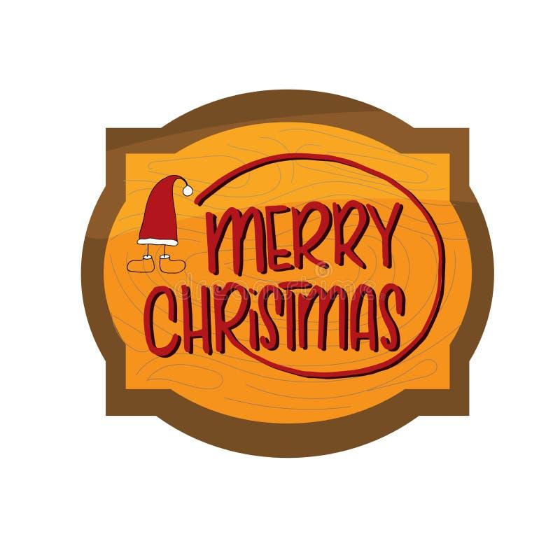 Πρότυπο Χριστουγέννων και του νέου έτους, πλαίσιο με την ξύλινη σύσταση για το χαιρετισμό, συγχαρητήρια, προσκλήσεις, ετικέττες,  ελεύθερη απεικόνιση δικαιώματος