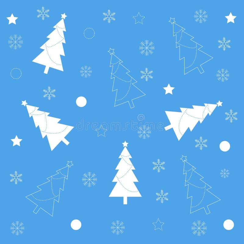 πρότυπο Χριστουγέννων semless επίσης corel σύρετε το διάνυσμα απεικόνισης απεικόνιση αποθεμάτων