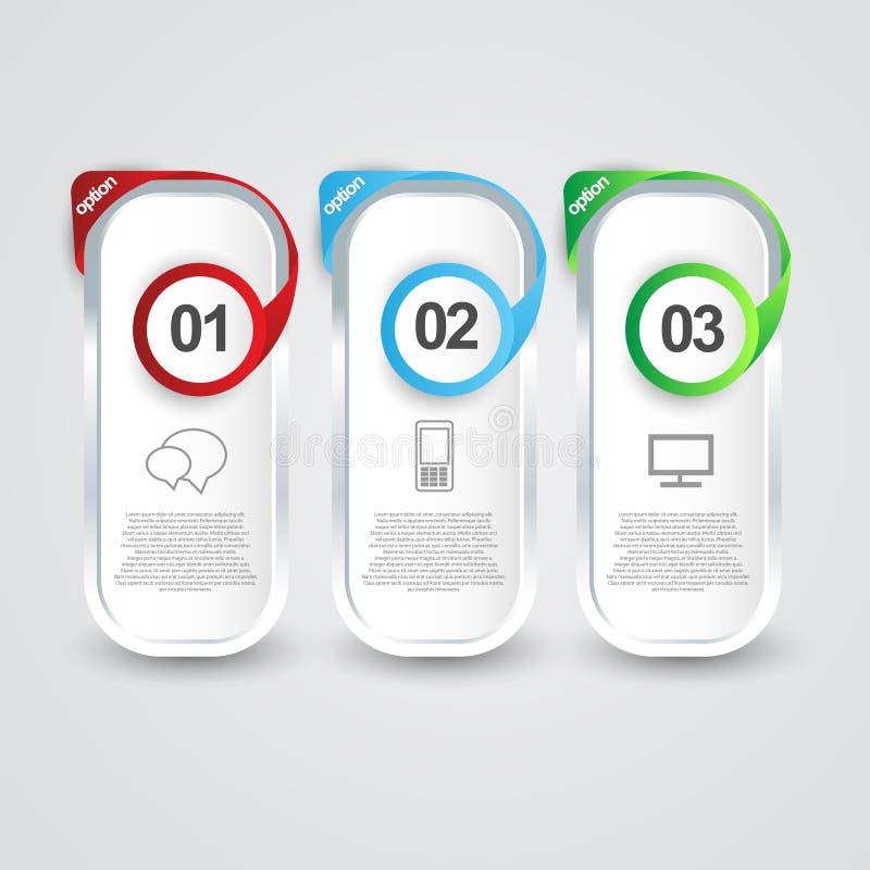 Πρότυπο χρωμάτων γραφικής παράστασης πληροφοριών ελεύθερη απεικόνιση δικαιώματος