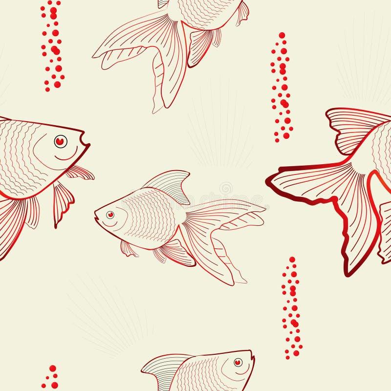 πρότυπο ψαριών άνευ ραφής απεικόνιση αποθεμάτων