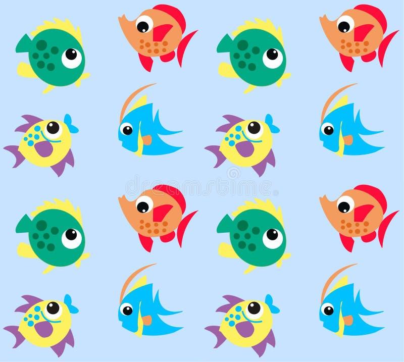 πρότυπο ψαριών διανυσματική απεικόνιση