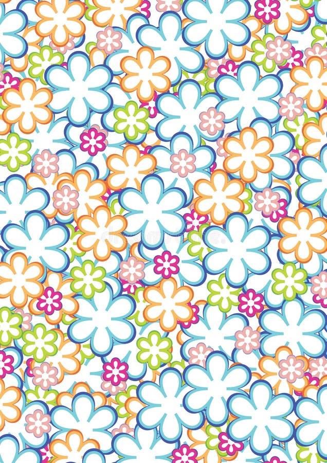 πρότυπο 2 λουλουδιών διανυσματική απεικόνιση