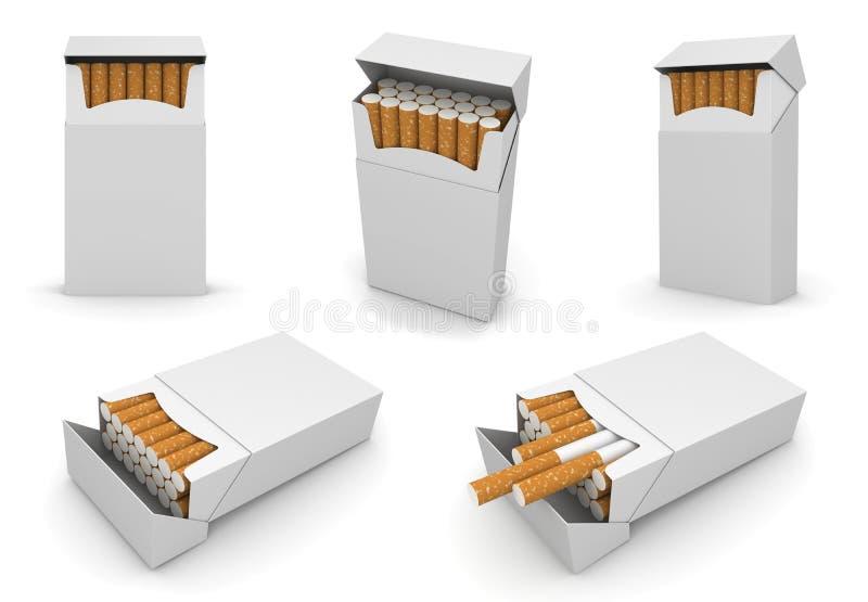 πρότυπο 5 πακέτων τσιγάρων 6000px διανυσματική απεικόνιση