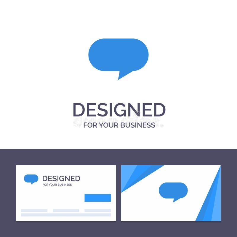 Πρότυπο Creative Business Card και Logo Twitter, Chat, Chatting Vector Illustration απεικόνιση αποθεμάτων