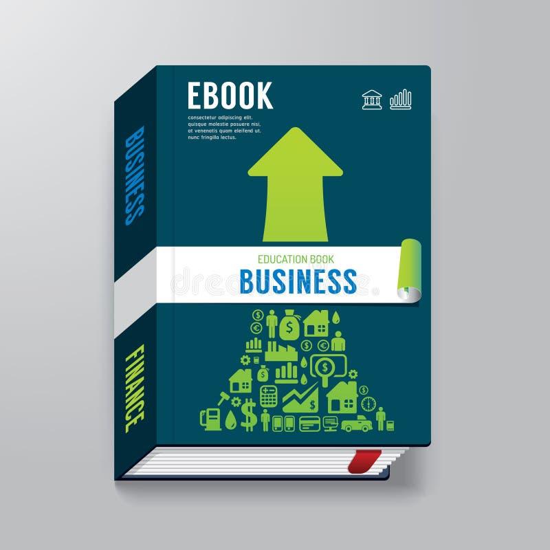 Πρότυπο EBook επιχειρησιακού σχεδίου κάλυψης βιβλίων διανυσματική απεικόνιση
