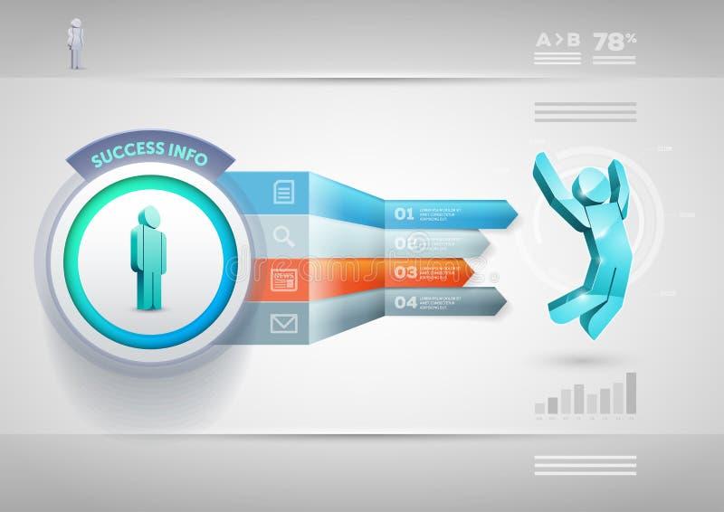 Πρότυπο Infographic βελών προοπτικής απεικόνιση αποθεμάτων