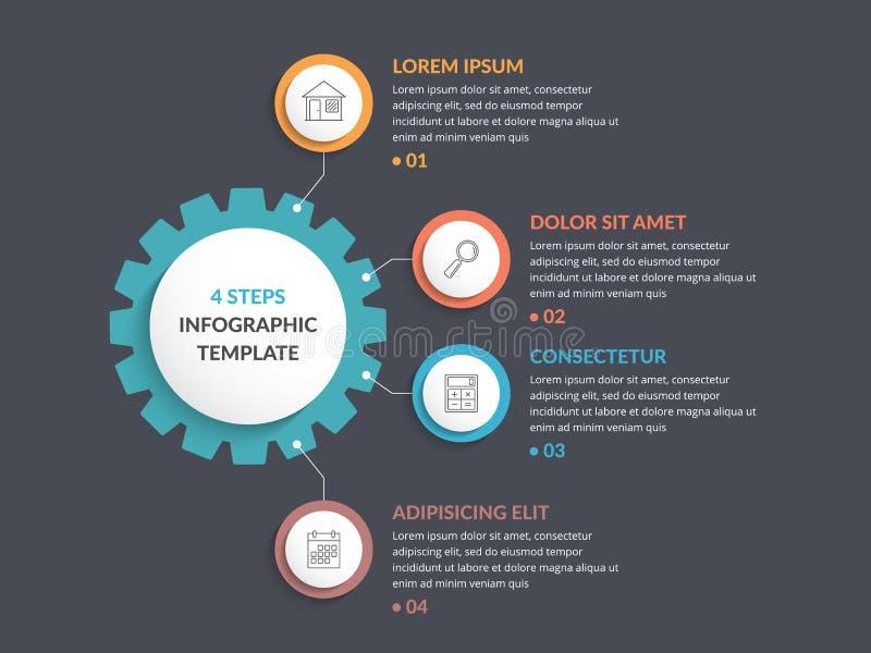 Πρότυπο Infographic με το εργαλείο διανυσματική απεικόνιση