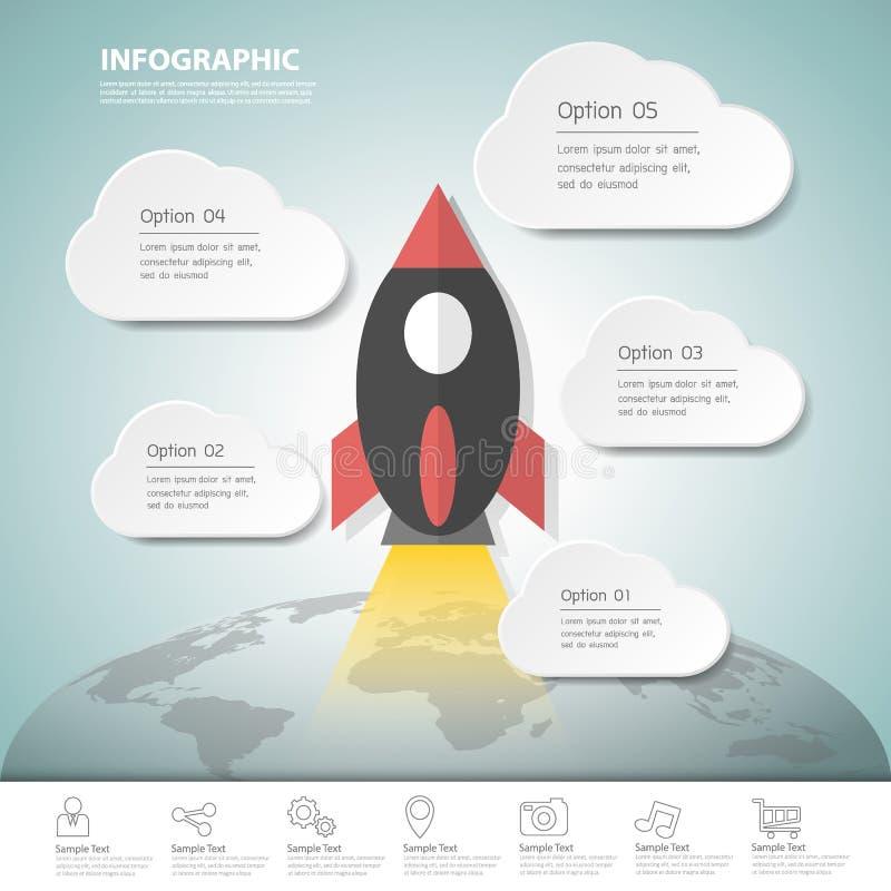 Πρότυπο Infographic ξεκινήματος σχεδίου για την επιχειρησιακή έννοια απεικόνιση αποθεμάτων
