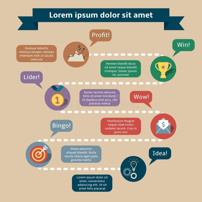 Πρότυπο infographics επιτυχίας διανυσματική απεικόνιση