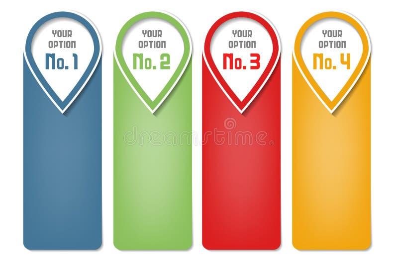 Πρότυπο Infographics - πλαίσια για το κείμενό σας ελεύθερη απεικόνιση δικαιώματος