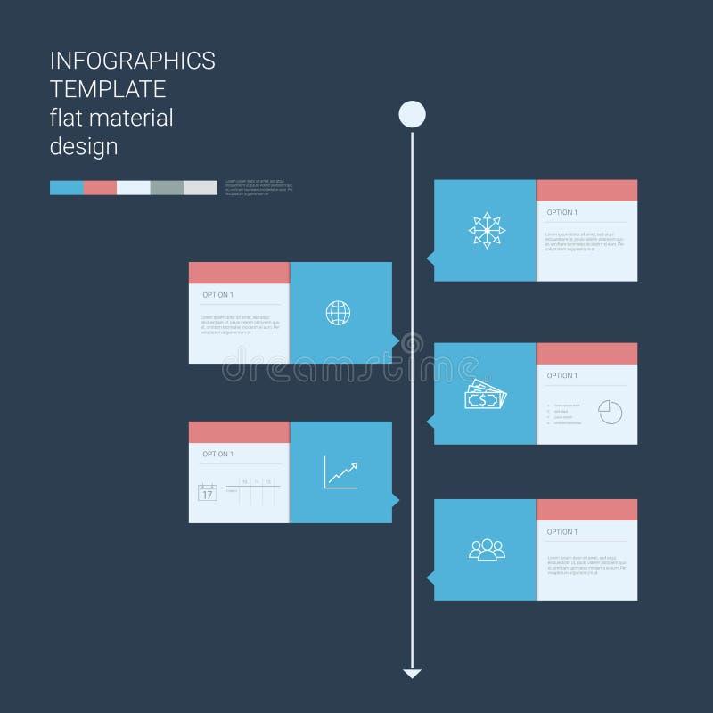 Πρότυπο infographics υπόδειξης ως προς το χρόνο Επιλογές επιλογών ελεύθερη απεικόνιση δικαιώματος