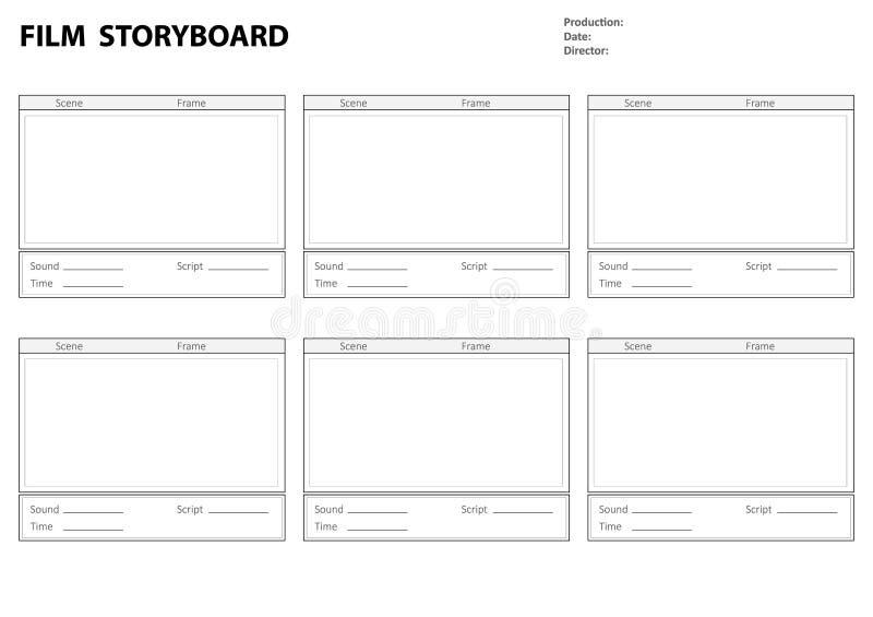 Πρότυπο Storyboard για την ιστορία ταινιών ελεύθερη απεικόνιση δικαιώματος