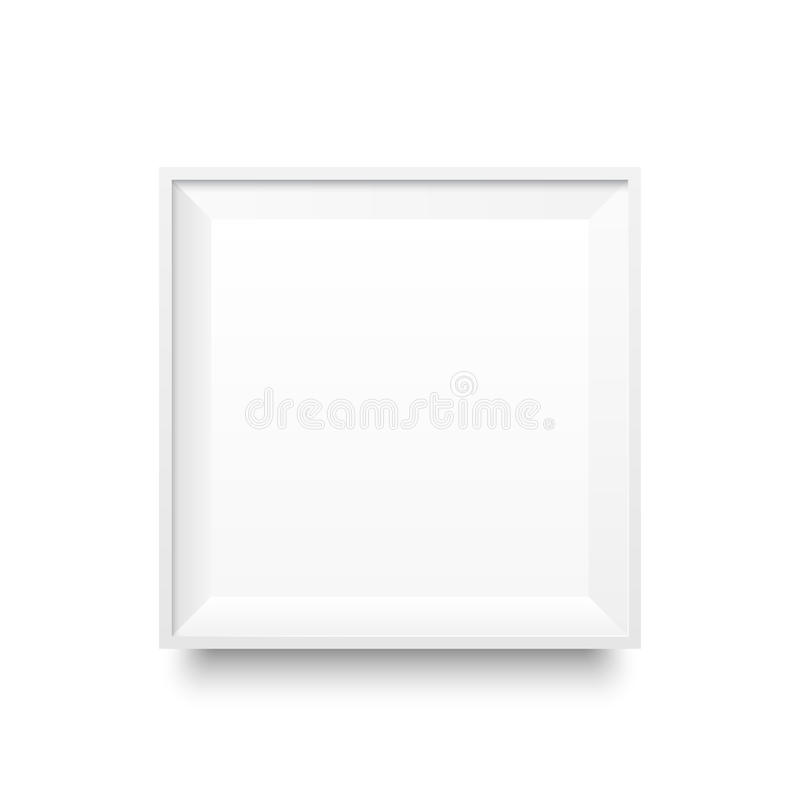Πρότυπο white2-01 πλαισίων διανυσματική απεικόνιση